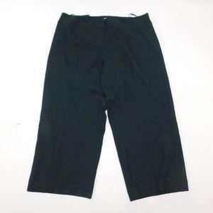 Anne Klein 20W Short Green Dress Pants Straight Wo